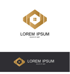 polygon house abstract logo vector image