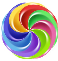 rainbow candy vector image