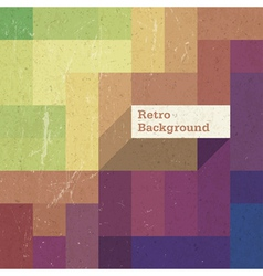 retro colorful rectangles background op vector image vector image