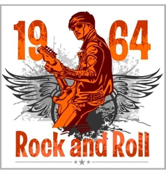 Rock and roll design - poster vector