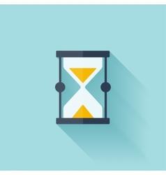 Sand clock flat icon vector