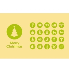 Set of christmas simple icons vector