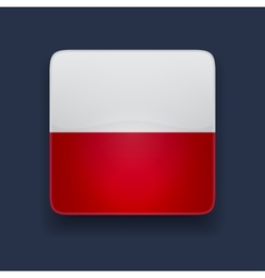 Square icon with flag of Poland vector image vector image