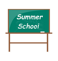 Summer school blackboard with piece of chalk vector