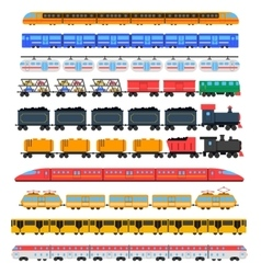 Train icons set vector image
