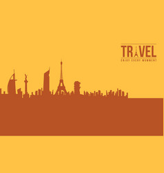 Traveling and holiday background style vector