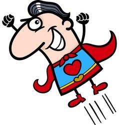 valentine superhero man cartoon vector image