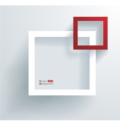 White and red frames on the wall vector image vector image