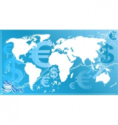 world finance vector image vector image