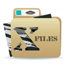 X files folder icon vector image