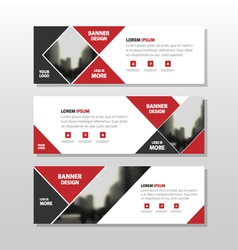 Red abstract triangle corporate business banner vector
