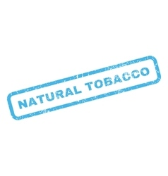 Natural tobacco rubber stamp vector