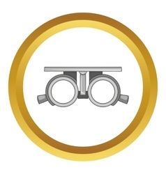 Frame for checking vision icon vector