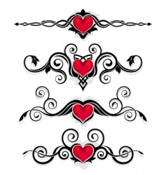 Valentine ornaments vector
