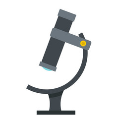 medical microscope icon isolated vector image
