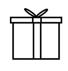 Gift icon vector