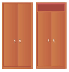 Light-colored simple wardrobe and wardrobe with vector