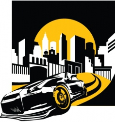 graphic cityscape vector image