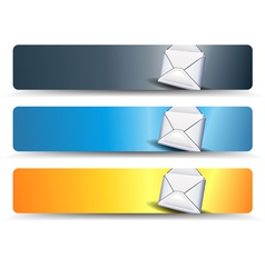 email Web Banner vector image