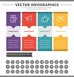 Abstract infographic design vector