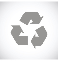 Recycling black icon vector