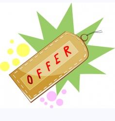 Shopping offer vector