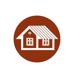Real estate icon abstract house property developer vector