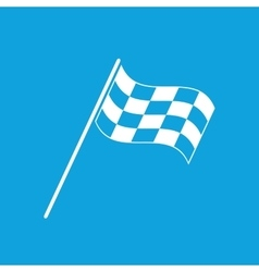 Finish flag icon simple vector