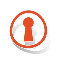 Keyhole sign sticker orange vector