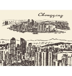 Chongqing  hand drawn sketch vector
