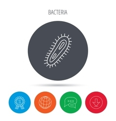 Bacteria icon medicine infection symbol vector