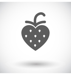 Strawberry flat icon vector
