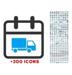 Shipping day icon vector