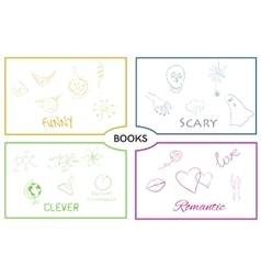 Book categories book genres vector