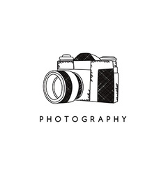 Photography camera theme vector
