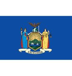 New york state flag vector