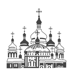 Orthodox cathedral vector