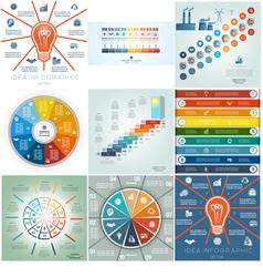 9 templates infographics business conceptual vector