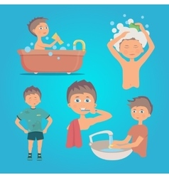 a person doing hand hygiene vector image vector image