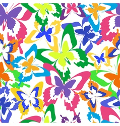 Background seamless pattern colorful butterfly vector image vector image
