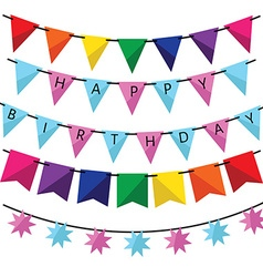 Birthday decoration vector image