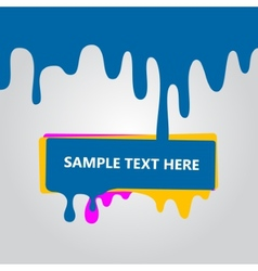 Blotch colored paint vector image vector image