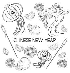 Chinese new year elements vector