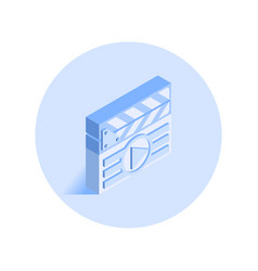 Clapperboard icon vector