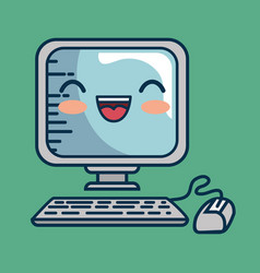 computer desktop character handmade drawn vector image