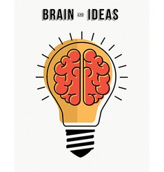 Concept of brain and ideas innovation in business vector