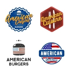 Creative set of american cuisine logo design vector image vector image