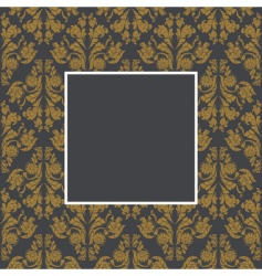 damask pattern and frame vector image