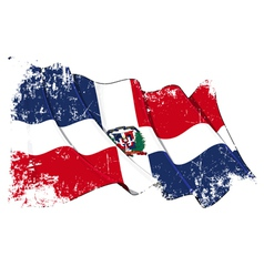 Dominican republic flag grunge vector