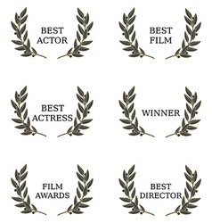 Film awards vector image vector image